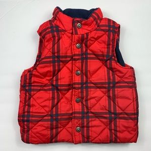 Bass Pro Shops Vest Size 3T Plaid Checkered Red